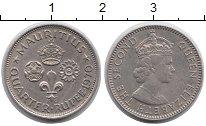 Изображение Монеты Маврикий 1/4 рупии 1970 Медно-никель XF