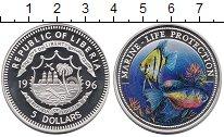 Изображение Монеты Африка Либерия 5 долларов 1996 Серебро Proof