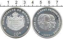 Изображение Монеты Европа Монако 10 евро 2003 Серебро Proof-