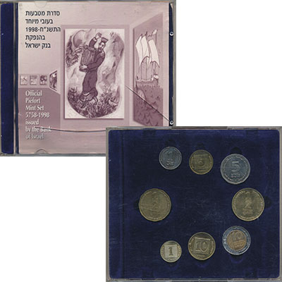 Изображение Подарочные монеты Израиль Набор 2004-2008 1998  Proof-