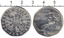 Изображение Монеты Европа Австрия 5 евро 2008 Серебро UNC-