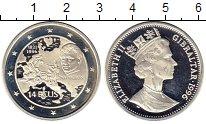 Изображение Монеты Великобритания Гибралтар 14 экю 1996 Серебро Proof-