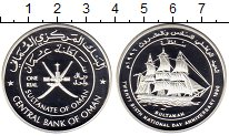Изображение Монеты Оман 1 риал 1996 Серебро Proof