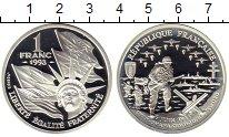 Изображение Монеты Франция 1 франк 1993 Серебро Proof-