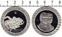 Изображение Монеты Европа Испания 2000 песет 1992 Серебро Proof-