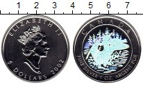 Изображение Монеты Северная Америка Канада 5 долларов 2002 Серебро UNC