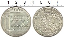 Изображение Монеты Европа Венгрия 200 форинтов 1977 Серебро UNC-