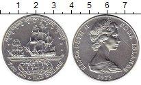 Изображение Монеты Острова Кука 2 1/2 доллара 1973 Серебро UNC- 2-я экспедиция Джейм