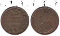 Изображение Монеты Канада 1 цент 1917 Бронза VF Георг V