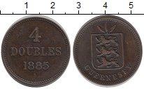 Изображение Монеты Гернси 4 дубля 1885 Медь XF