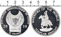 Изображение Монеты Африка Конго 10 франков 2010 Посеребрение Proof-