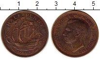 Изображение Монеты Великобритания 1/2 пенни 1945 Бронза VF