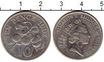 Изображение Монеты Гернси 10 пенсов 1992 Медно-никель UNC-