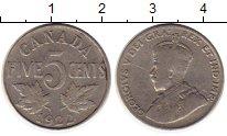 Изображение Монеты Северная Америка Канада 5 центов 1922 Медно-никель XF-