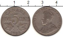 Изображение Монеты Северная Америка Канада 5 центов 1923 Медно-никель XF-
