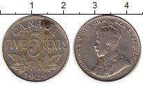Изображение Монеты Северная Америка Канада 5 центов 1924 Медно-никель XF-