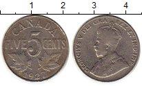 Изображение Монеты Канада 5 центов 1927 Медно-никель XF-