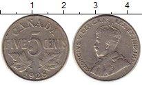 Изображение Монеты Северная Америка Канада 5 центов 1928 Медно-никель XF-