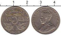 Изображение Монеты Северная Америка Канада 5 центов 1929 Медно-никель XF-