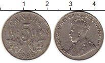 Изображение Монеты Северная Америка Канада 5 центов 1933 Медно-никель XF-
