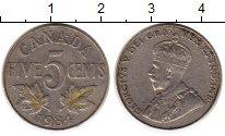 Изображение Монеты Канада 5 центов 1934 Медно-никель XF- Георг V