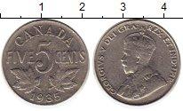 Изображение Монеты Канада 5 центов 1935 Медно-никель XF-