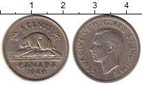 Изображение Монеты Северная Америка Канада 5 центов 1940 Медно-никель XF-