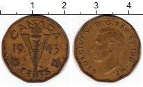 Изображение Монеты Канада 5 центов 1943 Латунь XF-
