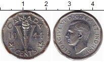 Изображение Монеты Канада 5 центов 1944 Хром XF-