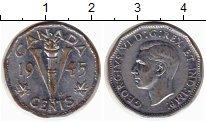 Изображение Монеты Канада 5 центов 1945 Хром XF-