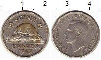 Изображение Монеты Северная Америка Канада 5 центов 1947 Медно-никель XF-