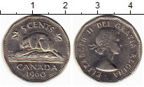 Изображение Монеты Северная Америка Канада 5 центов 1960 Медно-никель XF-