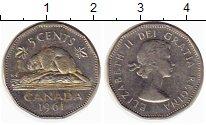 Изображение Монеты Канада 5 центов 1961 Медно-никель XF-