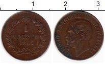 Изображение Монеты Европа Италия 1 сентесимо 1867 Медь XF