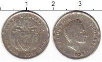 Изображение Монеты Южная Америка Колумбия 10 сентаво 1938 Серебро VF