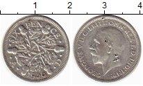 Изображение Монеты Великобритания 6 пенсов 1936 Серебро VF