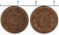 Изображение Монеты Европа Дания 1/2 скиллинга 1868 Бронза XF-
