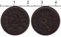 Изображение Монеты Европа Норвегия 2 эре 1876 Медь XF-