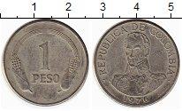 Изображение Монеты Колумбия 1 песо 1976 Медно-никель XF