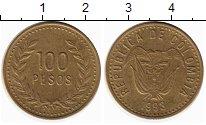 Изображение Монеты Южная Америка Колумбия 100 песо 1993 Латунь XF