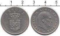 Изображение Монеты Дания 1 крона 1970 Медно-никель XF Фредерик IX