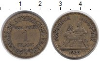 Изображение Монеты Франция 1 франк 1922 Латунь XF
