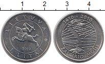 Изображение Монеты Литва 1 лит 2010 Медно-никель UNC-