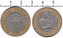 Изображение Монеты Европа Португалия 200 эскудо 1992 Биметалл XF
