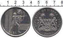 Изображение Монеты Африка Сьерра-Леоне 1 доллар 2003 Медно-никель UNC-