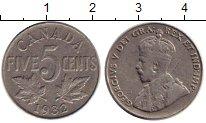 Изображение Монеты Северная Америка Канада 5 центов 1932 Медно-никель XF