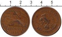 Изображение Монеты Северная Америка Мексика 20 сентаво 1954 Бронза VF