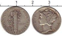 Изображение Монеты Северная Америка США 1 дайм 1935 Серебро VF