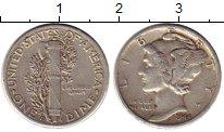 Изображение Монеты США 1 дайм 1944 Серебро VF