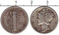 Изображение Монеты Северная Америка США 1 дайм 1945 Серебро VF